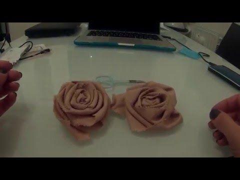 Rose in tessuto Shabby Chic - YouTube