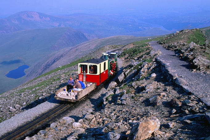 The narrow gauge railway line taking you to the Mt Snowdon summit from Llanberis, Wales~must do!
