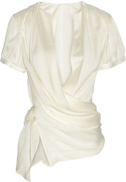 Giorgio Armani Wrapeffect Silk Blouse Lovely~~