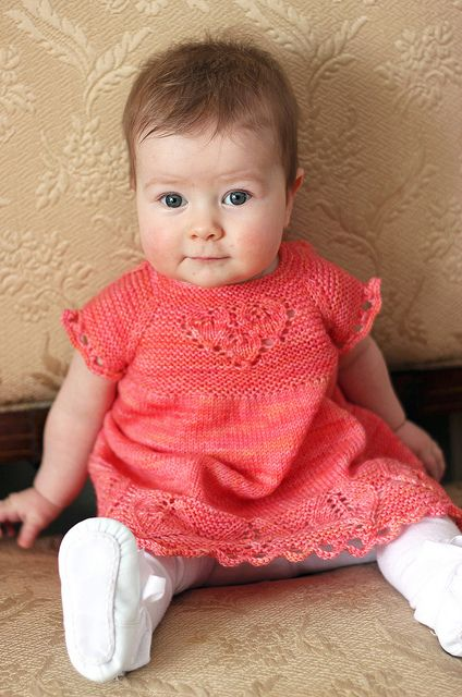 Oh My!  This dress is the cutest.  Pattern is Sproutlette Dress by Tanis Lavallee. Fingering weight yarn is my favorite to knit with! IMG_3686 by tanislavallee, via Flickr