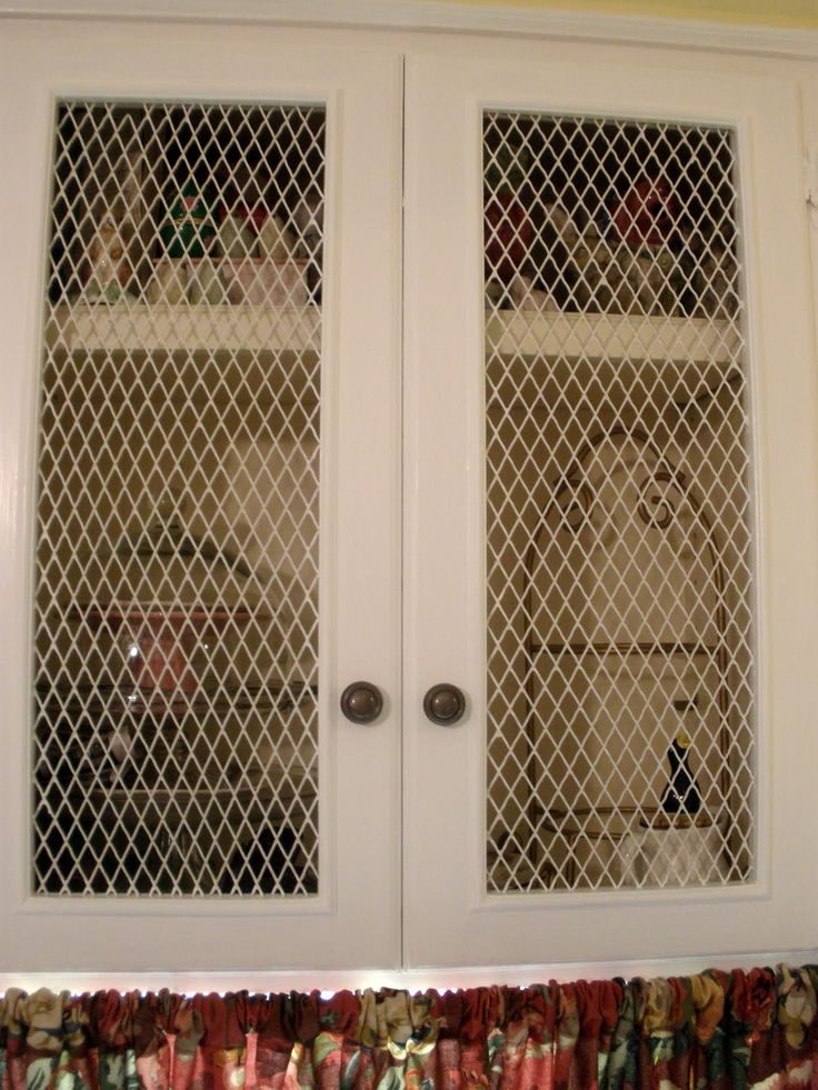 The Doors On Kitchen Cabinets With Chicken Wire Note
