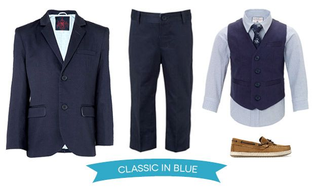 Classic in Blue Page Boy Style Outfit | www.onefabday.com