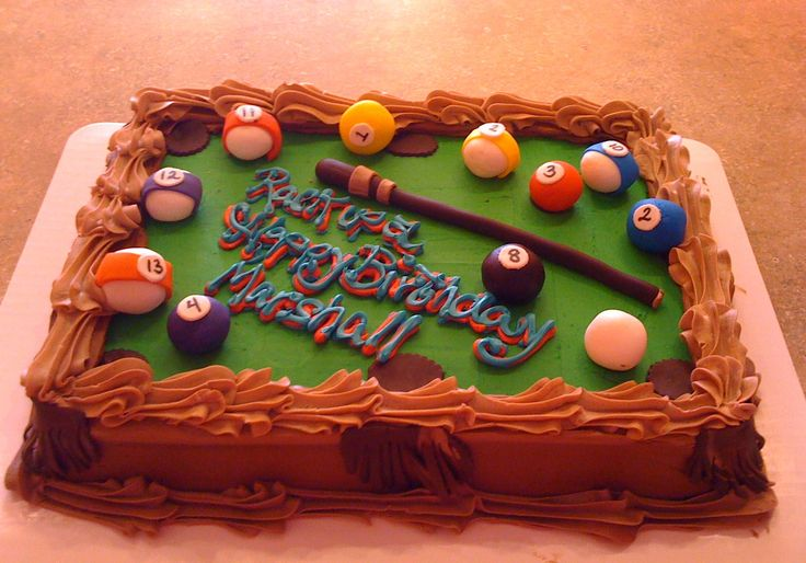 14 Best Images About Birthday S Billiard Cake On Pinterest