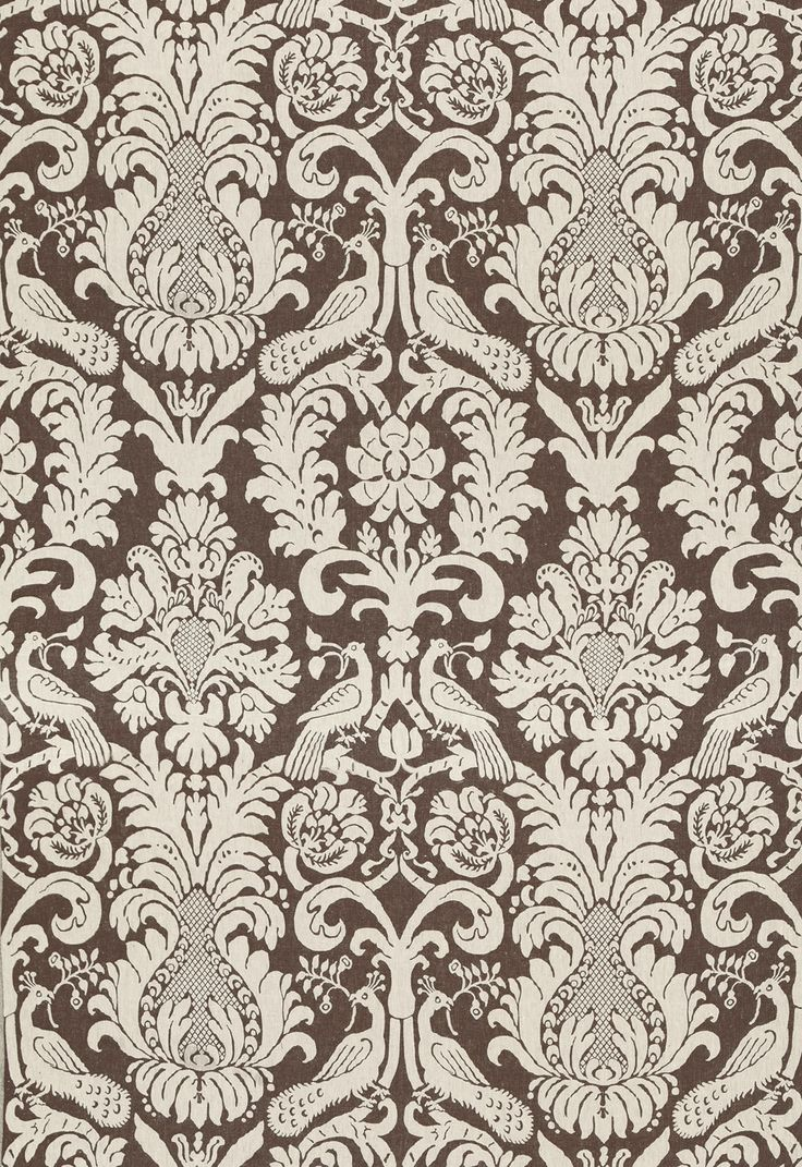 Anna Damask in Sable Brown, 68432. http://www.fschumacher.com/search/ProductDetail.aspx?sku=68432  #Schumacher