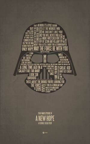 Type used as movie posterMovie Posters, Darth Vader, Posters Prints, Jerod Gibson, Star Wars, Typographic Poster, Stars Wars, Boys Room, Starwars