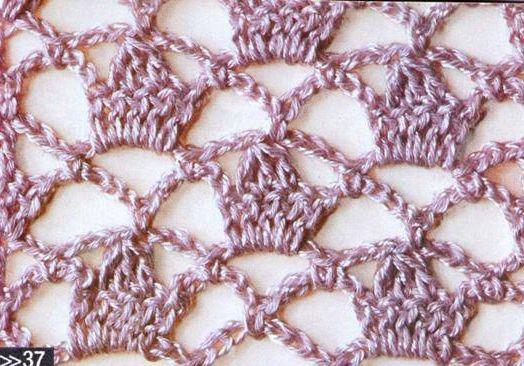 Patrón #1195:Punto Calado a Crochet | CTejidas [Crochet y Dos Agujas]