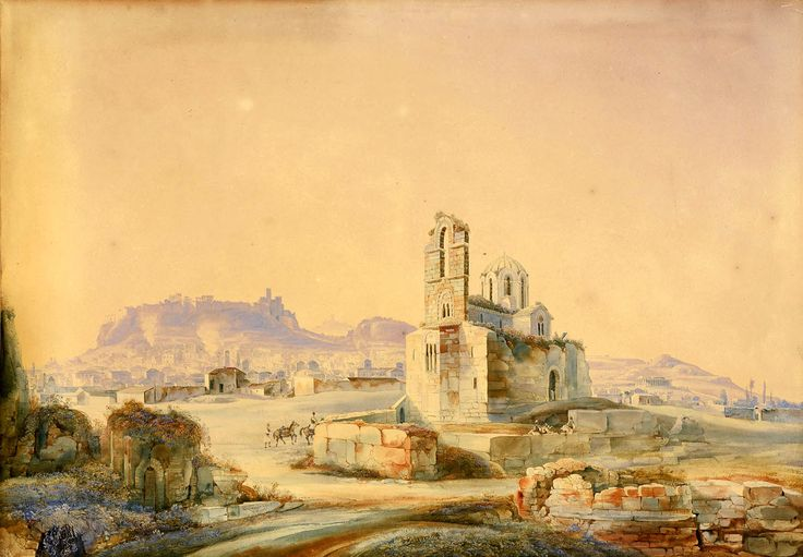 Johann Jakob Wolfensberger (1797-1850)-Άποψη της Αθήνας από την Παναγία Γοργοεπήκοο