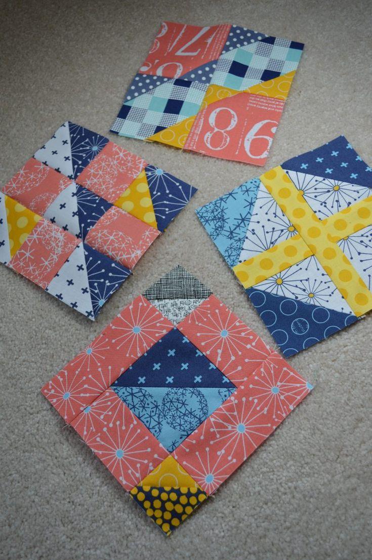 "Super Simple 6"" sampler quilt blocks by Sharon McConnell, modern patchwork"