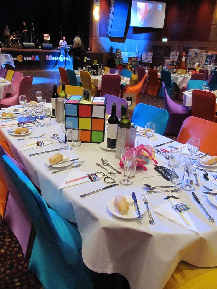 80's Party table centre pieces | 80's Party Theme | 80s ...