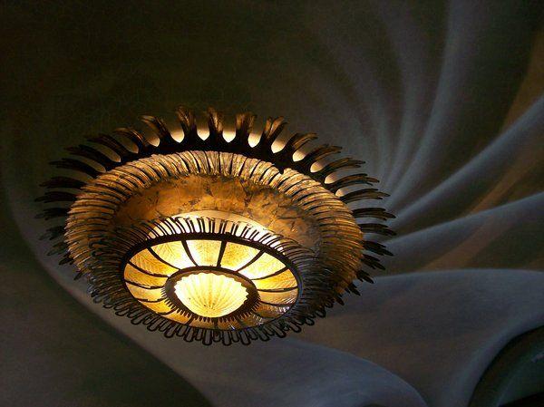 Gaudi's Swirly Ceilings