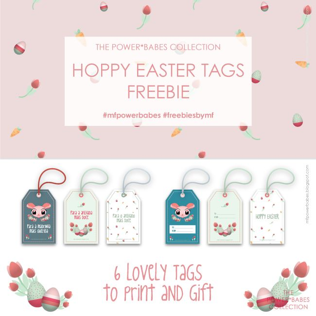 Easter tags Labels  //Power*Babes Collection by mf