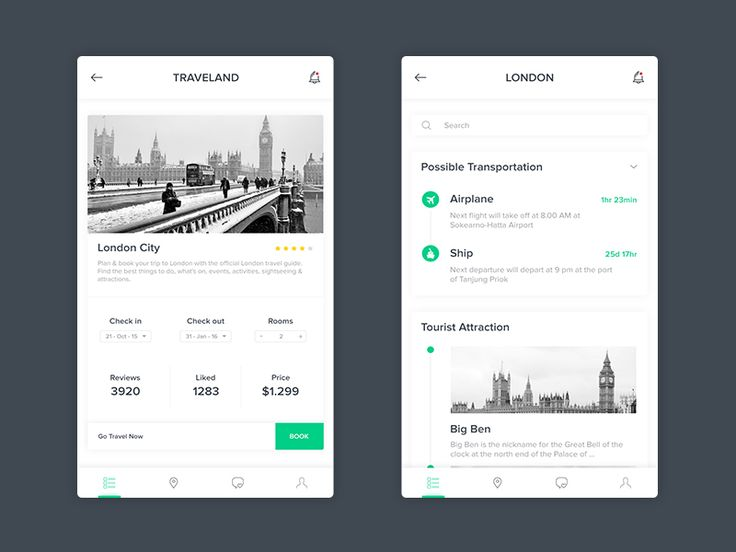 Hi I try create travel application design Hope you like ^^ Feel happy hear your feedback Inspired by @Dwinawan Thanks!  Skype: +6281282121969 Mail: bagasmochammadrhafi@gmail.com