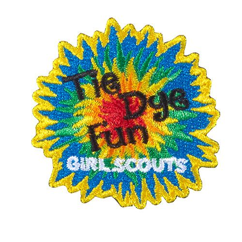 """Iron-On Embroidered Patch. 2"""" x 2"""". All Fun Patches are unofficial and are not to be worn on the front of the Girl Scout sash, vest or tunic. All fun patch designs are exclusively owned by Girl Scouts of the USA."""