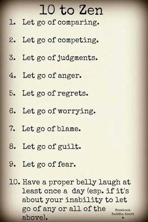 Self-Nurture!: Putting these principles into practice and letting go of all this!!!