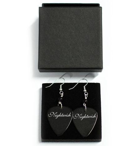 Black Logo Earrings, Earrings - Nightwish. Designed and made by Jaana Bragge.