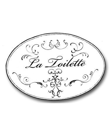 Look what I found on #zulily! Black & White 'La Toilette' Plaque #zulilyfinds