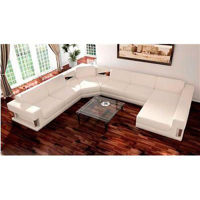 2315 Modern White Sectional Sofa Set