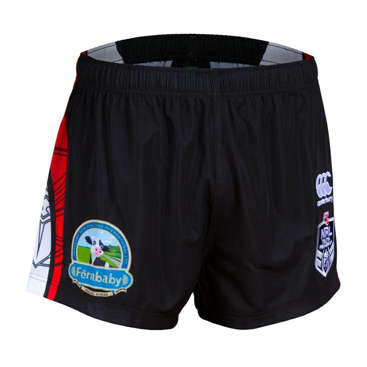 2014 Vodafone Warriors CCC Home Shorts #WarriorsGear #WarriorsForever #NRL #Black #Shorts Go to www.warriorsstore.co.nz