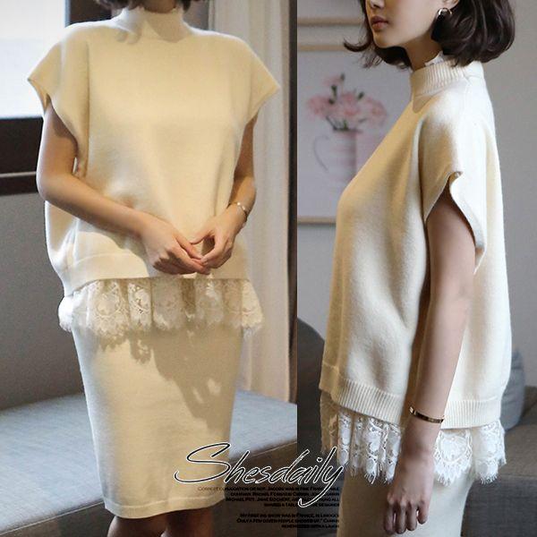 ※レースのインナーは商品に含まれません。   ★☆★☆ご購入前にご確認お願いいたします★☆★☆   ①shesdailyの商品は新品で点検済みですが、ノーブランドの海外製品のため、検品基準が日本とは異なり、日本では不良品とされるものが良品扱いとなっているものもございます。日本製品に比べ縫製などが少々劣る場合がございますので、ブランドのように質や縫製がいいものをお探しのお客様にはおすすめできません。検品をし、着用に支障がないと判断されるものに関しては通常商品扱いとさせていただいておりますので、ご理解いただいた上でご購入ください。  (縫い目の多少のずれ、小さな汚れ、ボタンの取り付けの甘さ、タグがない、チャコペンの印、接着のりのはみ出し等)  ②韓国製品はフリーサイズの商品が多いため、必ずサイズをご確認の上、ご購入下さい。 サイズが合わない、イメージと異なる等のお客様のご都合による返品、交換は一切お受けできませんのでご了承ください。  ③スマートフォンやパソコンのモニターによっては実際の色味と少し異なって見える場合がございますが、返品はお受けできかねます。…