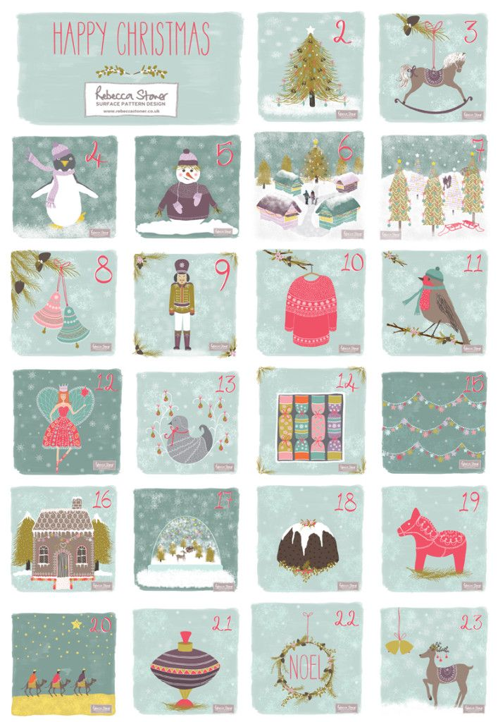 Christmas Advent by Rebecca Stoner www.rebeccastoner.co.uk