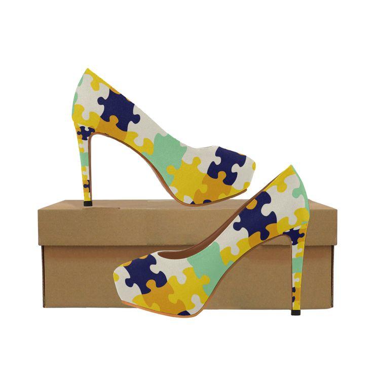 Puzzle pieces Women's High Heels