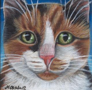 Calico Cat - Mini Painting
