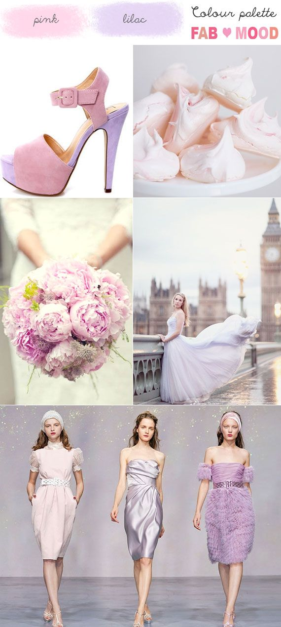 I love the bride in lilac wedding gown,Lilac Pink Wedding Mood Board,the pink bouquet was so pretty.pink and lilac wedding theme,lilac and pink colours