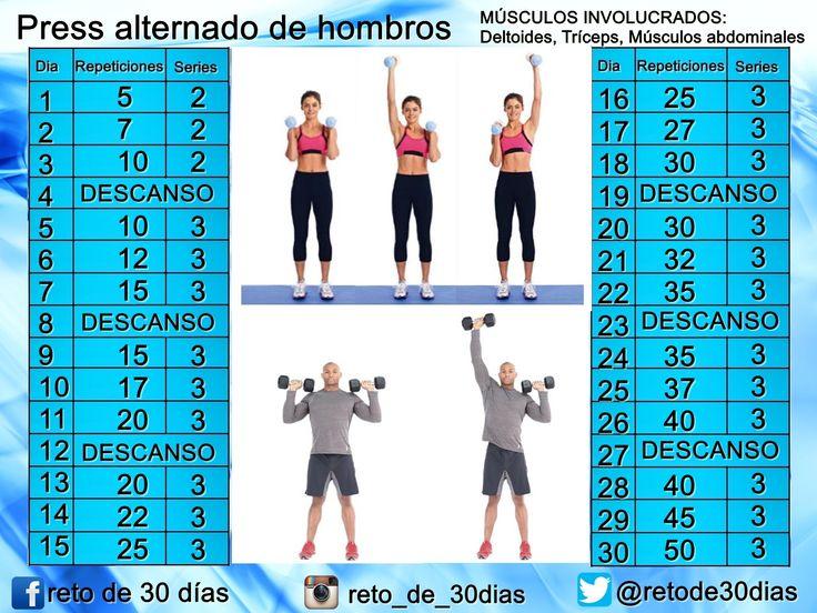 Brazos y hombros delgados ~ Reto de 30 días Fitness