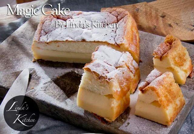 Magical custard cake