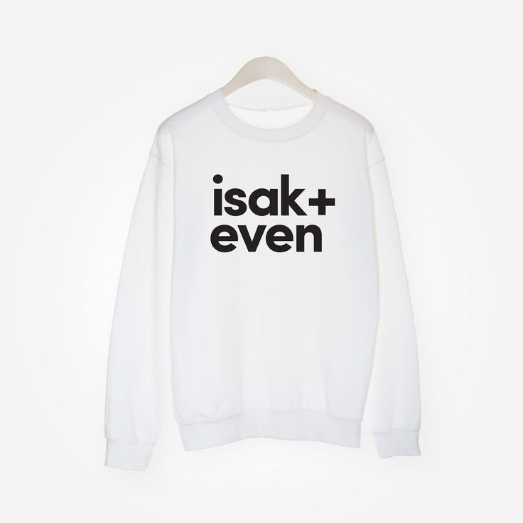 Isak + Even Sweatshirt - White - Kjøtt og Blod
