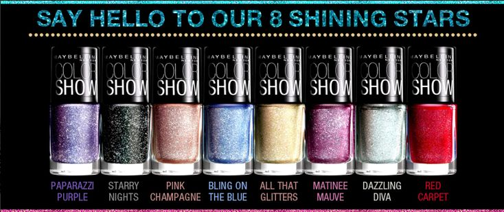 Bring fashion to your fingertips with Maybelline Color Show Glitter Mania