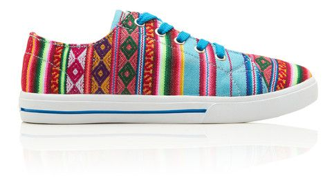 INKKAS® Shoes - Handmade in South America - Blue Mist Low Top | INKKAS Phuyupata Shoes | Tribal & Aztec Shoes