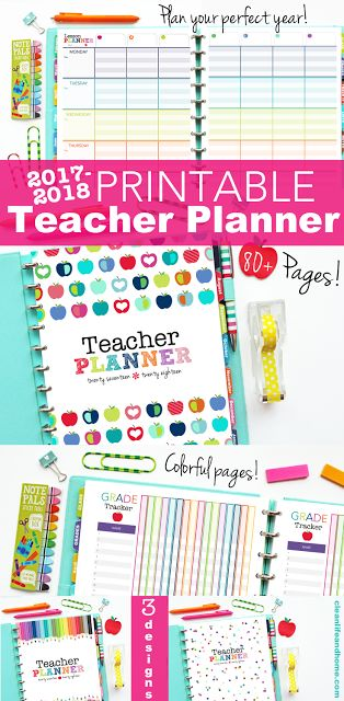Printable Teacher Planner, Lesson Planner, Class Roster, Birthdays, Calendar Pages and more!  Personalized Covers also available!  By Clean Life and Home