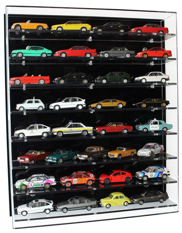 Acrylic Model Wall Display Case for 1:43 Model Cars with 8 ...