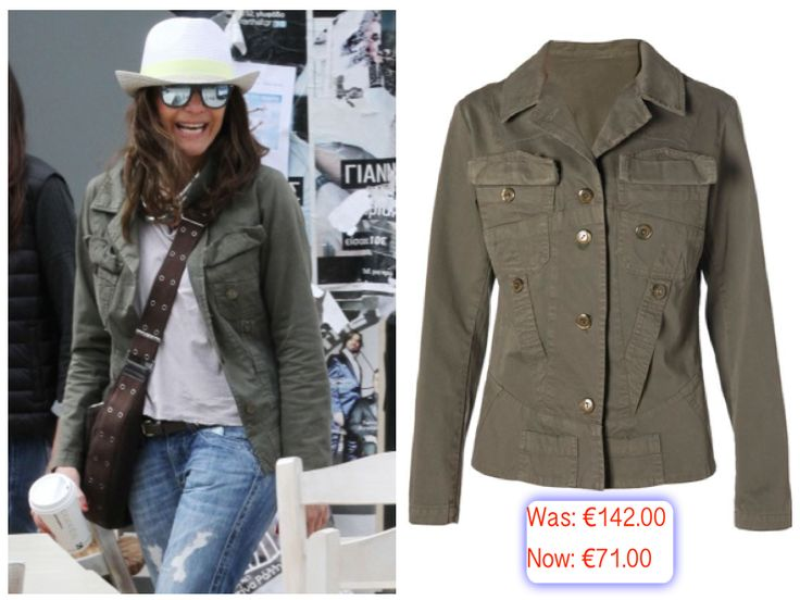 "Despina Vandi wearing ""Despina Vandi for Chip & Chip"" army jacket."