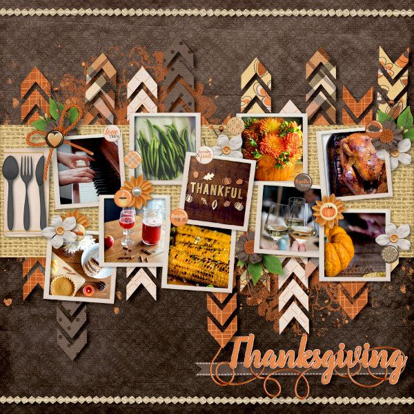 Thanksgiving layout by Sheri Catherine #thanksgiving #thanksgivinglayout #thankful