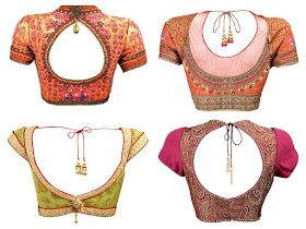 South India Fashion: Bridal Saree Blouse designs