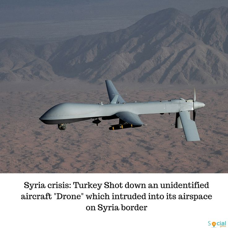 Turkey says its warplanes have shot down an unidentified aircraft which intruded into its airspace near the border with Syria. Media reports quote officials as saying the aircraft was a type of drone. The Syrian government is known to be operating drones, as are Russia and the US-led coalition against Islamic State.A US official said they believed the drone was of Russian origin, but Russia says that all their drones have been accounted for.