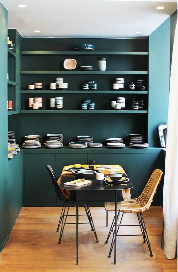 les 25 meilleures id es de la cat gorie murs vert fonc. Black Bedroom Furniture Sets. Home Design Ideas