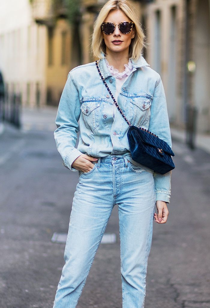 How to wear double denim in 2017: Well, it's less about the standard shirt-and–skinny jeans combination and more about this new street style formula.
