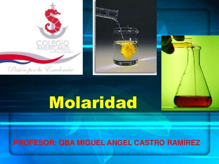 MolaridadPROFESOR: QBA MIGUEL ANGEL CASTRO RAMÍREZ