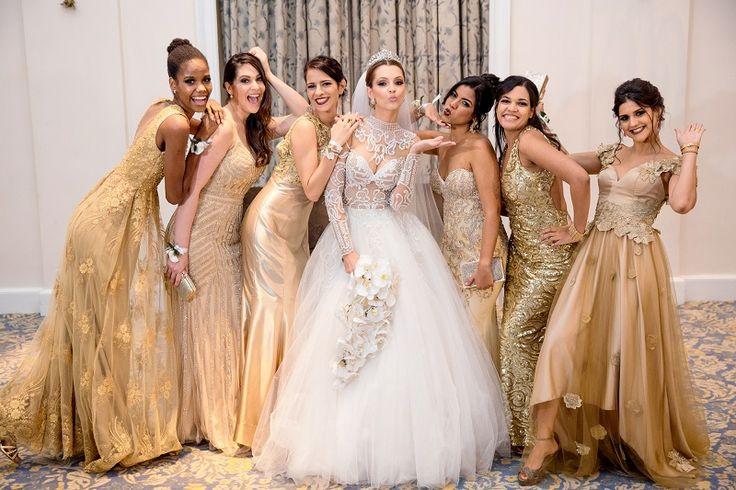 Noiva | Madrinha | Vestido | Dourado | Casamento | Bride | Bridesmaid | Wedding | Dress