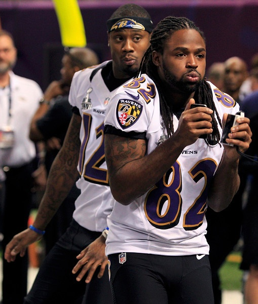 *wipes drool* love me some Torrey, damn! : Jacoby Jones & Torrey Smith.  Ohhhh Our boys can daaaance. lol