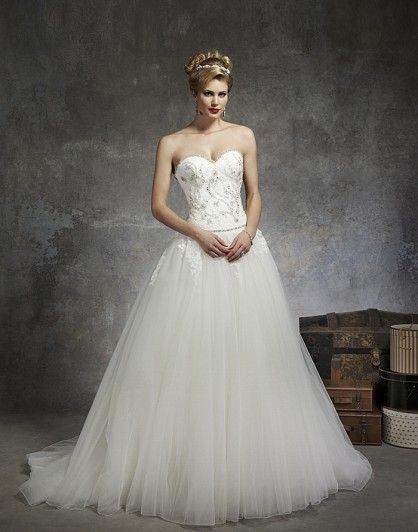 Justin Alexander, 8671 Tulle Size 14 Wedding Dress For Sale | Still White