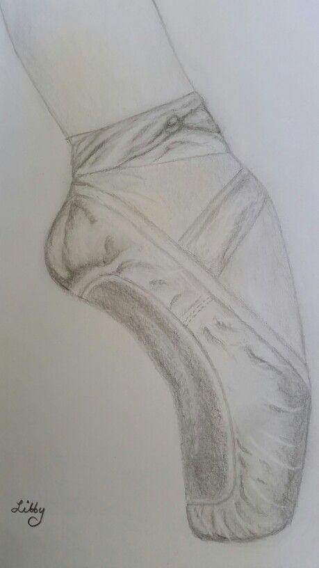 Ballet shoe study in graphite