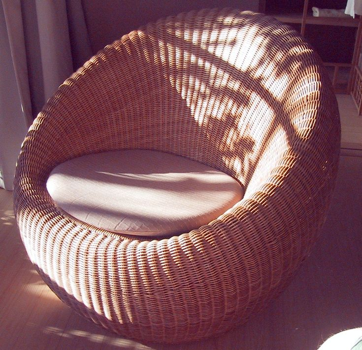 Outdoor Wicker Furniture With Beautiful Rattan Chair Chair Cushion Bean Bag  Style Shape Cozy Living Room Or Sun Room For Interesting And Innovative  Outdoor ...