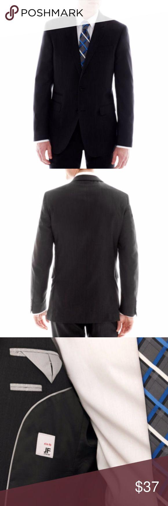 Pict j ferrar modern fit 1 - New Jf J Ferrar Slim Fit Suit Jacket 38 Reg Black Boutique