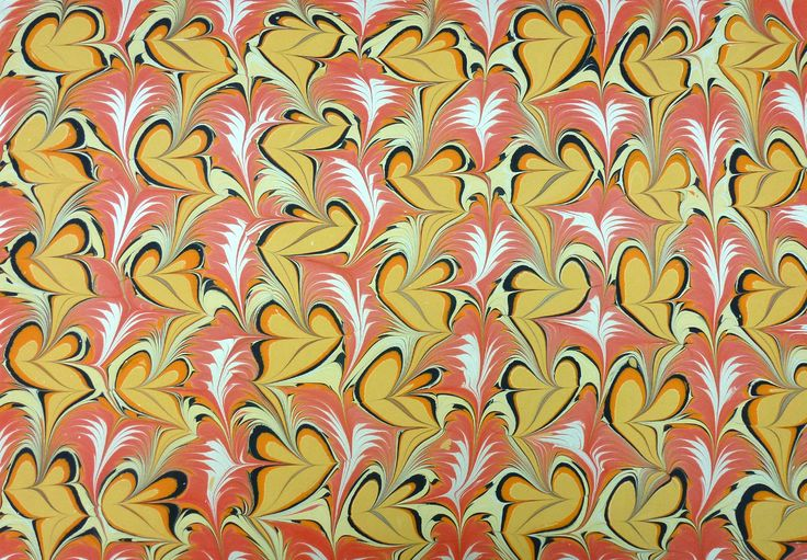 Marbled paper by Antonio Vélez Celemín, marbling artist, instructor, writer and blogger on marbling topics, marblinginSpain.  What a beautiful and distinctive style!
