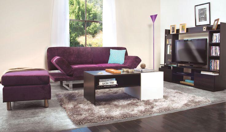 Inspírate en esta idea y renueva tu living con el color del año: Orquídea Radiante. #Muebles2014 #Futón #Living #Easy #EasyTienda #Color #Orquidea   http://www.easy.cl/oferta-futones