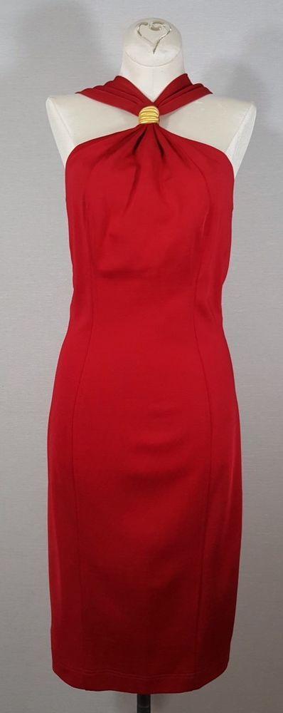 Tadashi Sz M Body Con Red Embellished Low Back Cocktail Festive Event Dress  #Tadashi #BodyConsciousSheath #CocktailClubwearFestiveEventSpecialOccasion